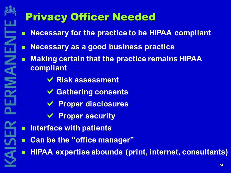 Privacy Officer Needed