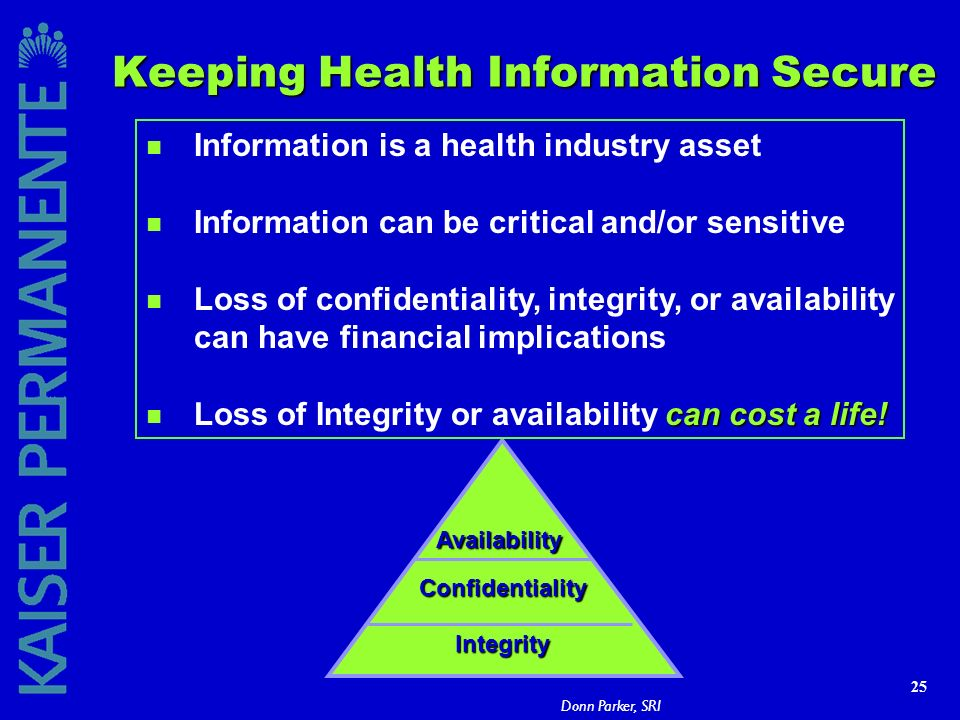 Keeping Health Information Secure