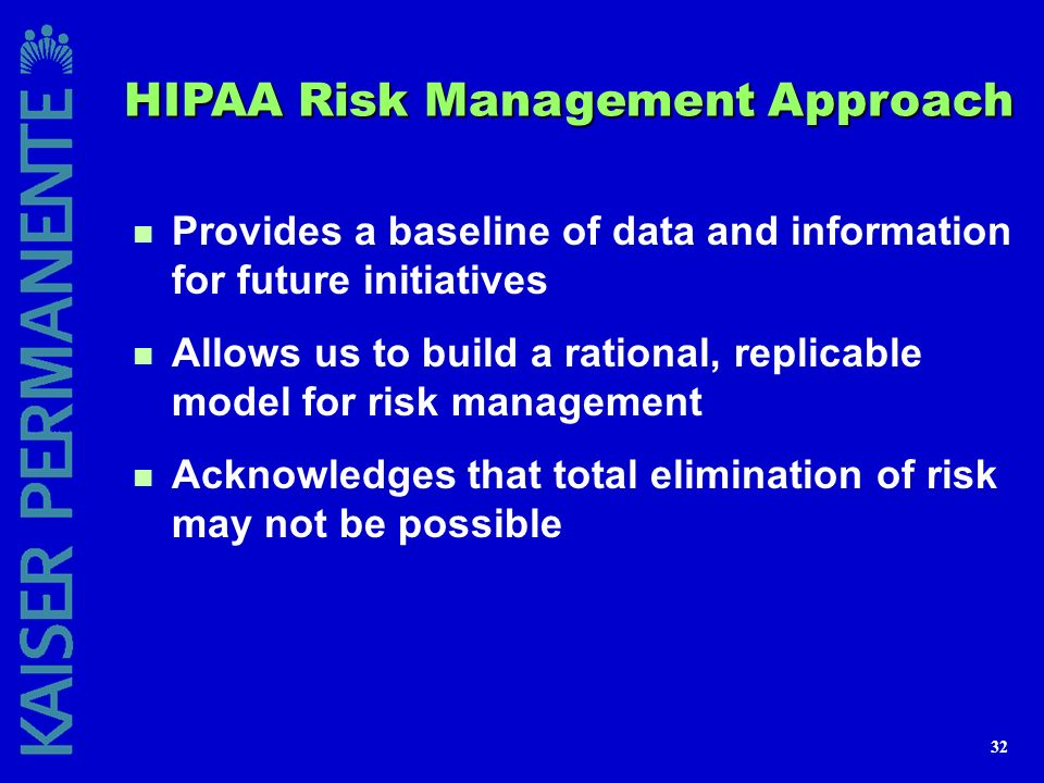 HIPAA Risk Management Approach