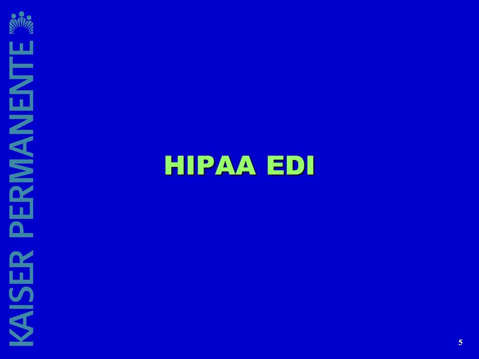 HIPAA EDI
