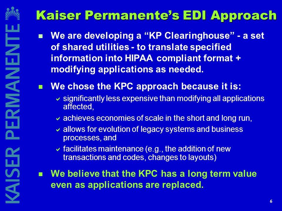 Kaiser Permanente's EDI Approach