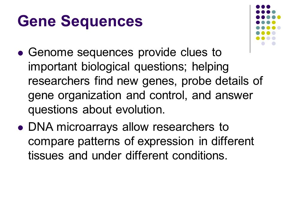 Gene Sequences
