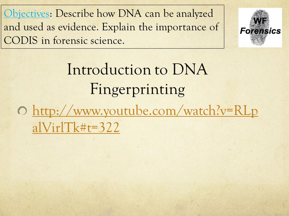 an introduction to the history of fingerprints evidence Introduction to forensic science  the rate at which forensic evidence  as a result, such dna may not be used to give evidence and just like the fingerprints,.