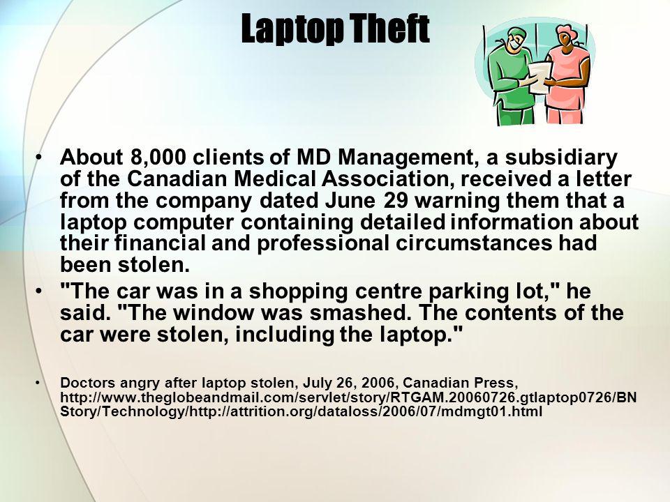 Laptop Theft