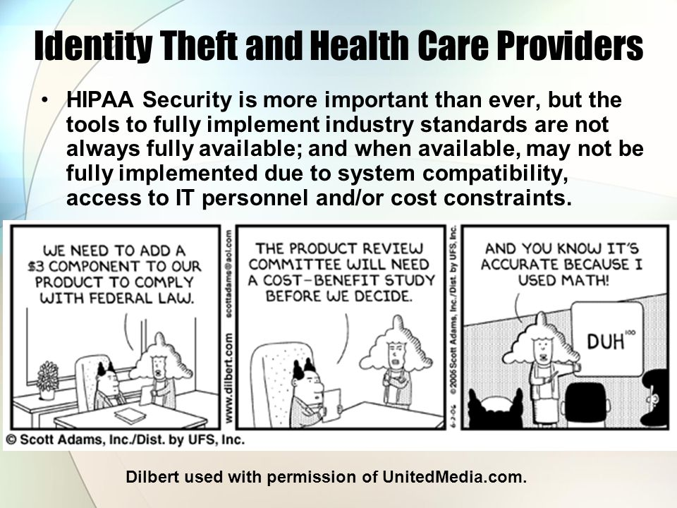 Identity Theft and Health Care Providers