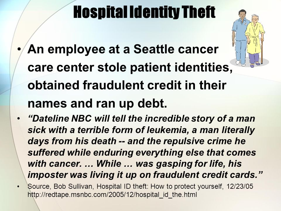 Hospital Identity Theft