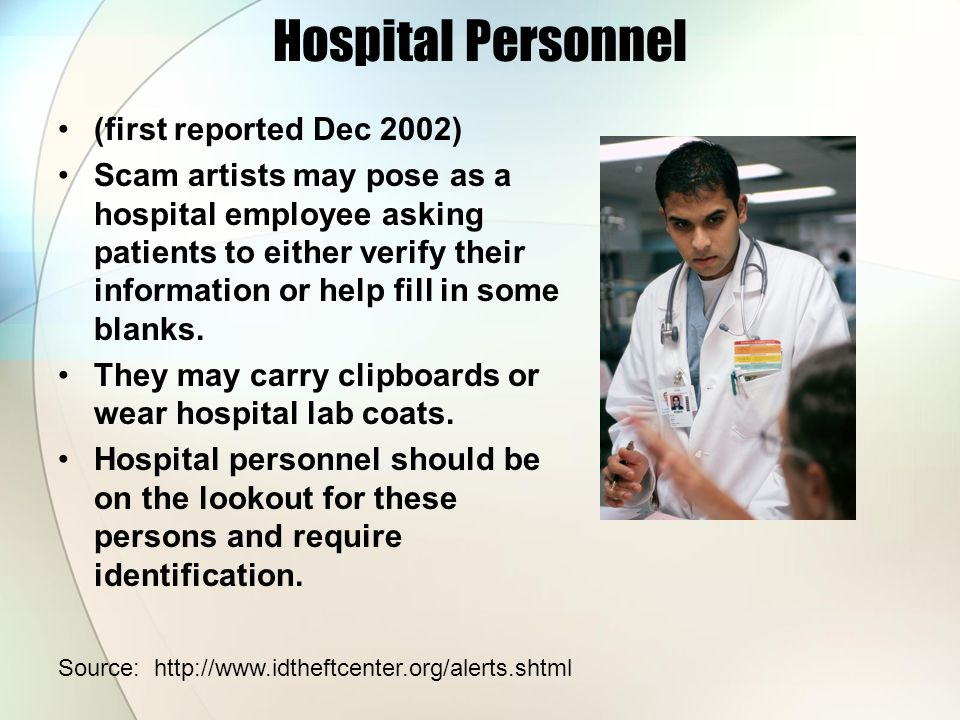 Hospital Personnel (first reported Dec 2002)