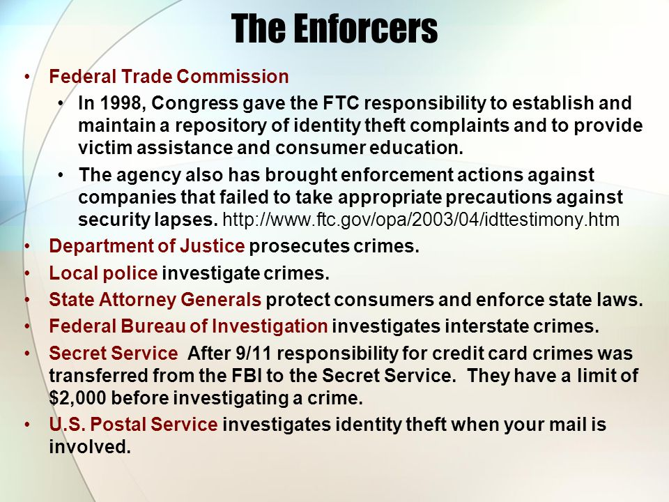 The Enforcers Federal Trade Commission