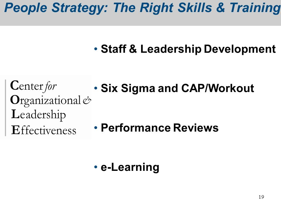 People Strategy: The Right Skills & Training