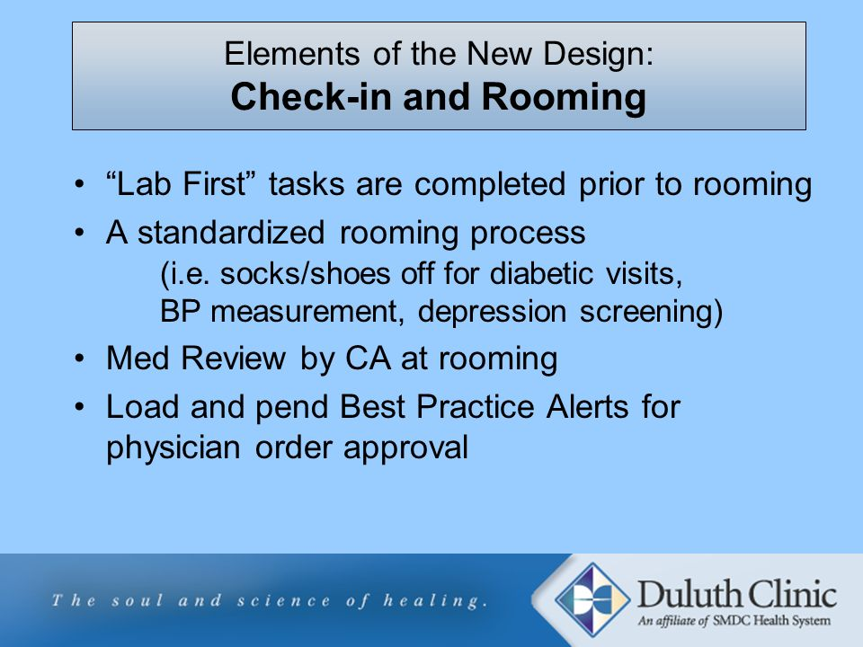 Elements of the New Design: Check-in and Rooming
