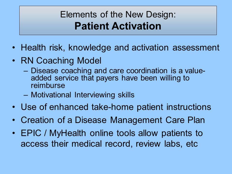 Elements of the New Design: Patient Activation