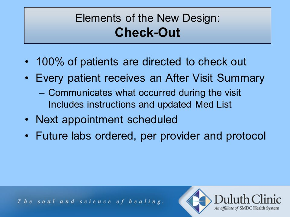 Elements of the New Design: Check-Out
