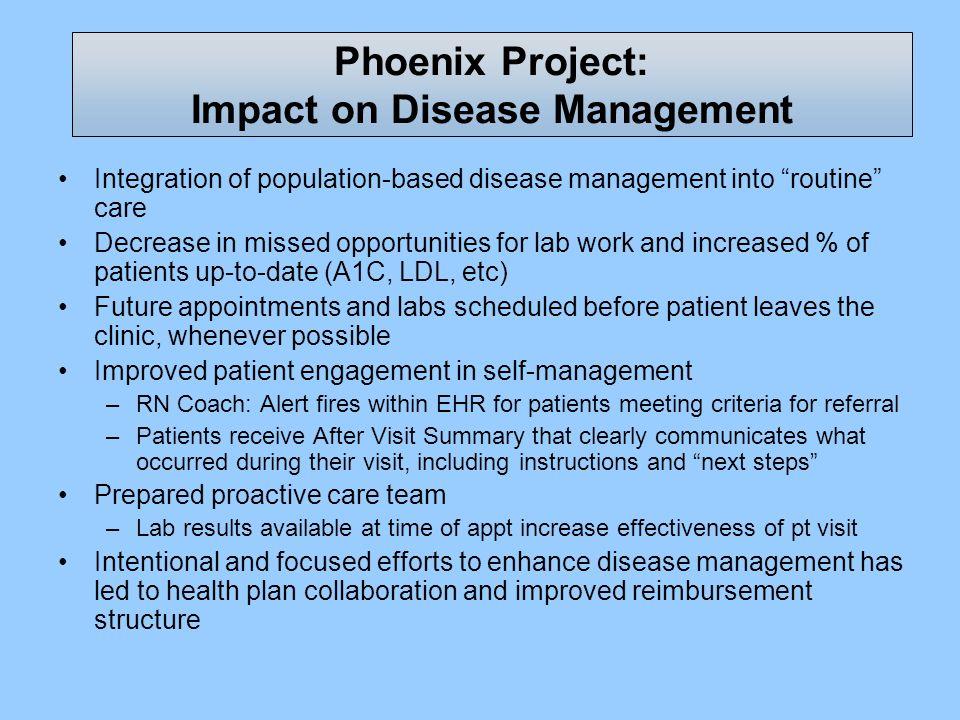 Phoenix Project: Impact on Disease Management