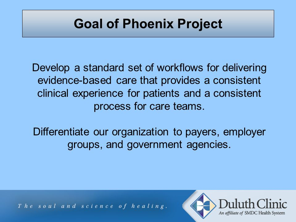 Goal of Phoenix Project