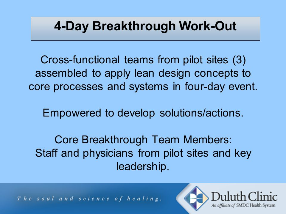 4-Day Breakthrough Work-Out