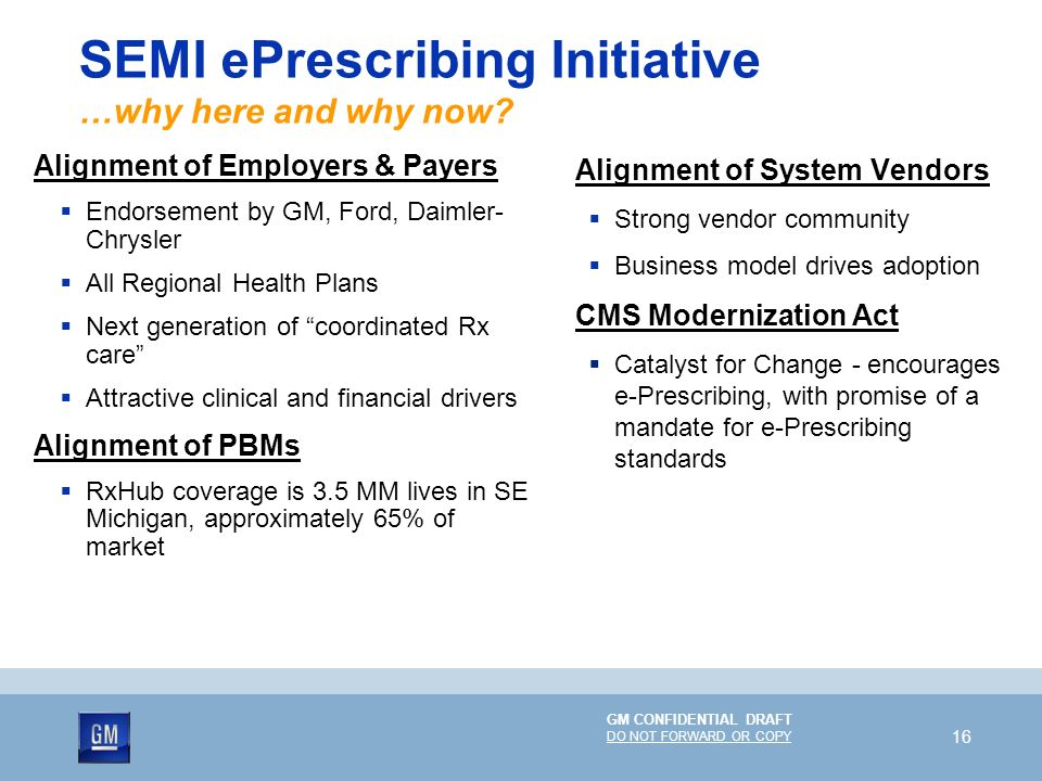 SEMI ePrescribing Initiative …why here and why now