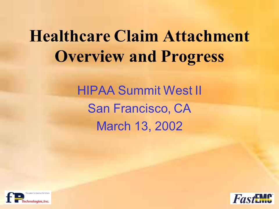 Healthcare Claim Attachment Overview and Progress