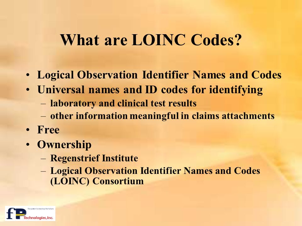 What are LOINC Codes Logical Observation Identifier Names and Codes