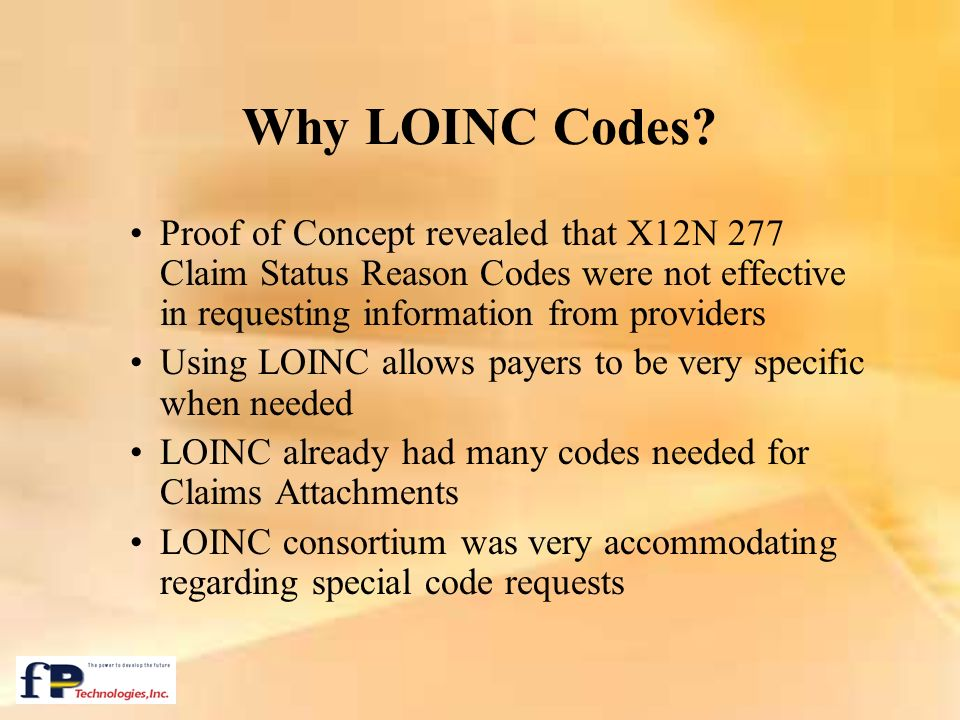 Why LOINC Codes Proof of Concept revealed that X12N 277 Claim Status Reason Codes were not effective in requesting information from providers.
