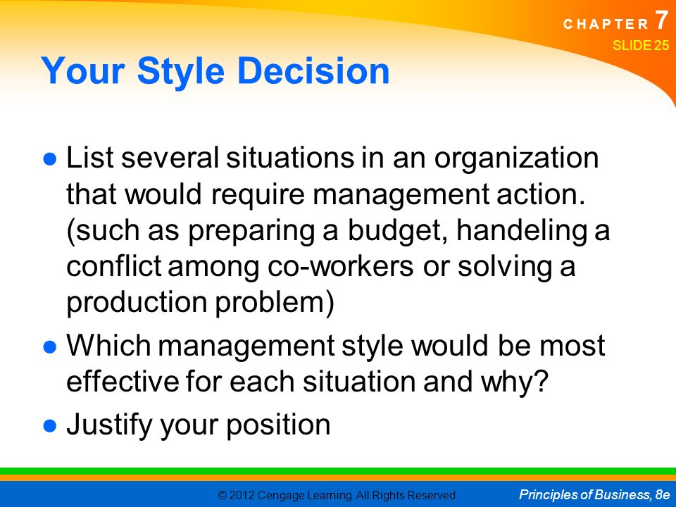 Your Style Decision
