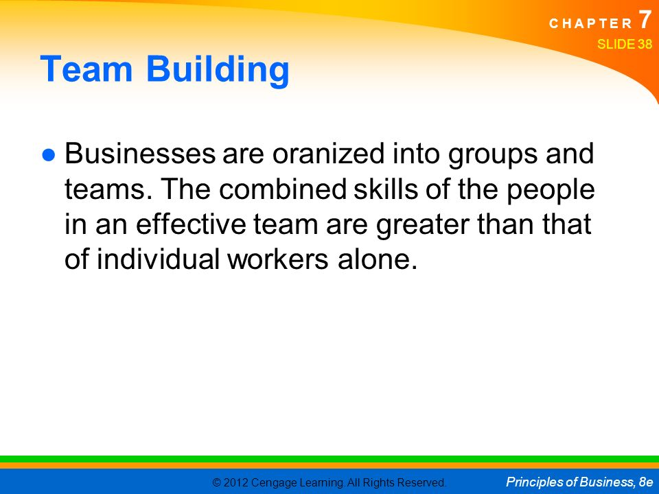 A discussion on building effective teams in organizations