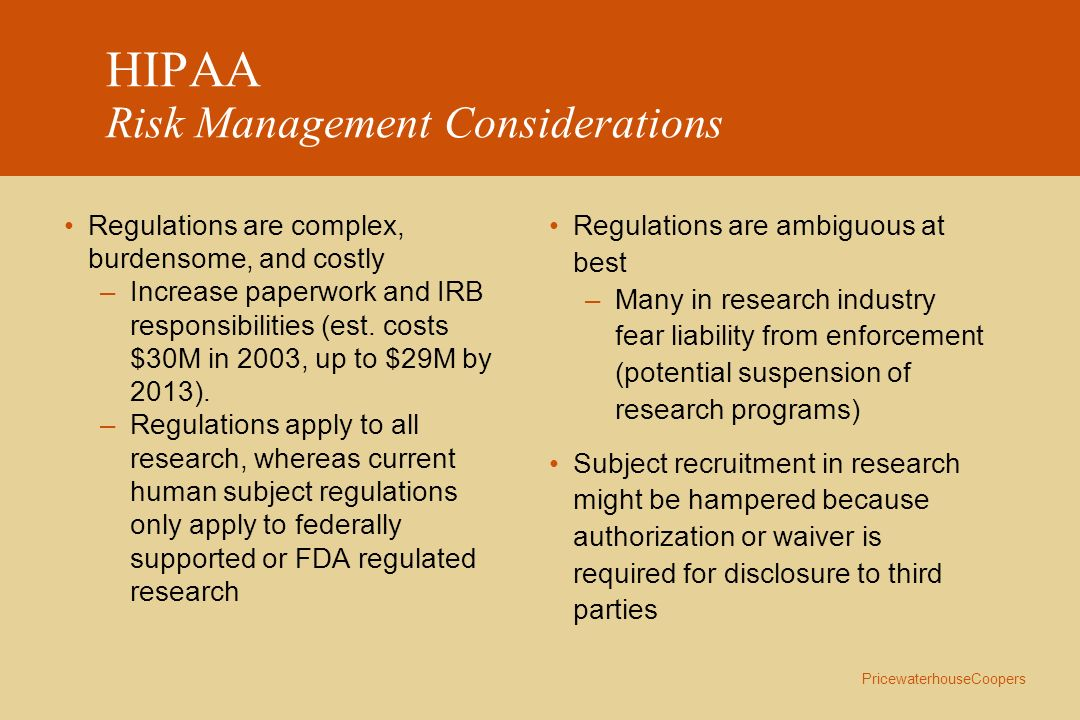 HIPAA Risk Management Considerations