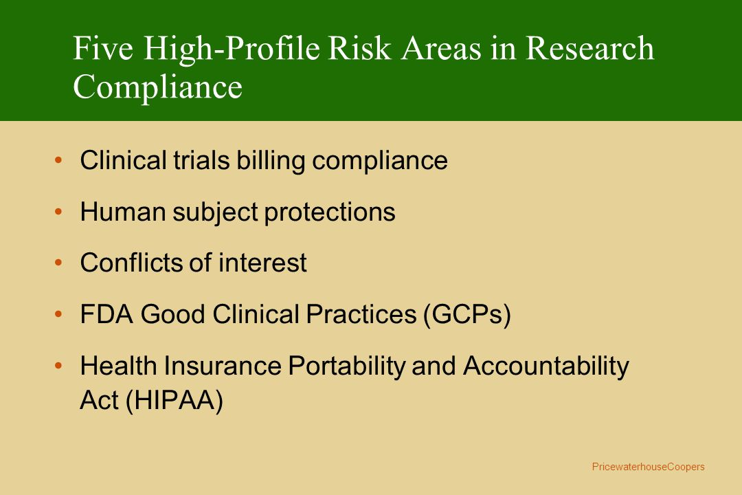 Five High-Profile Risk Areas in Research Compliance