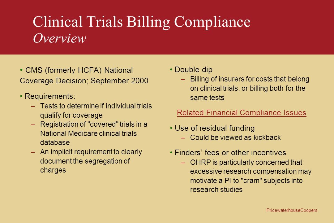 Clinical Trials Billing Compliance Overview