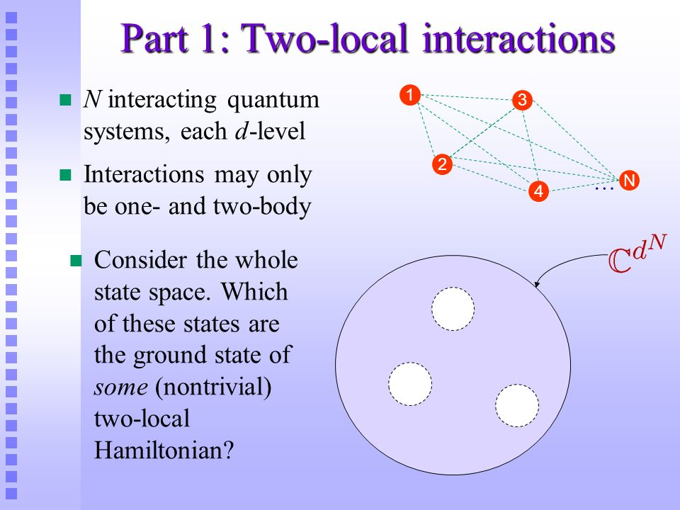 Part 1: Two-local interactions