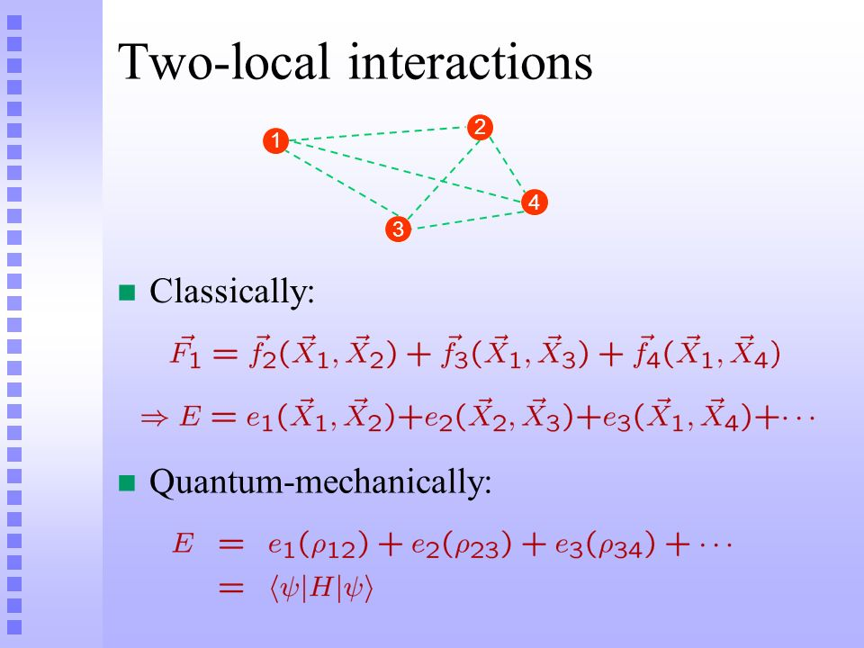 Two-local interactions