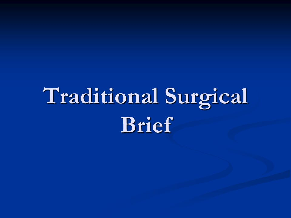 Traditional Surgical Brief