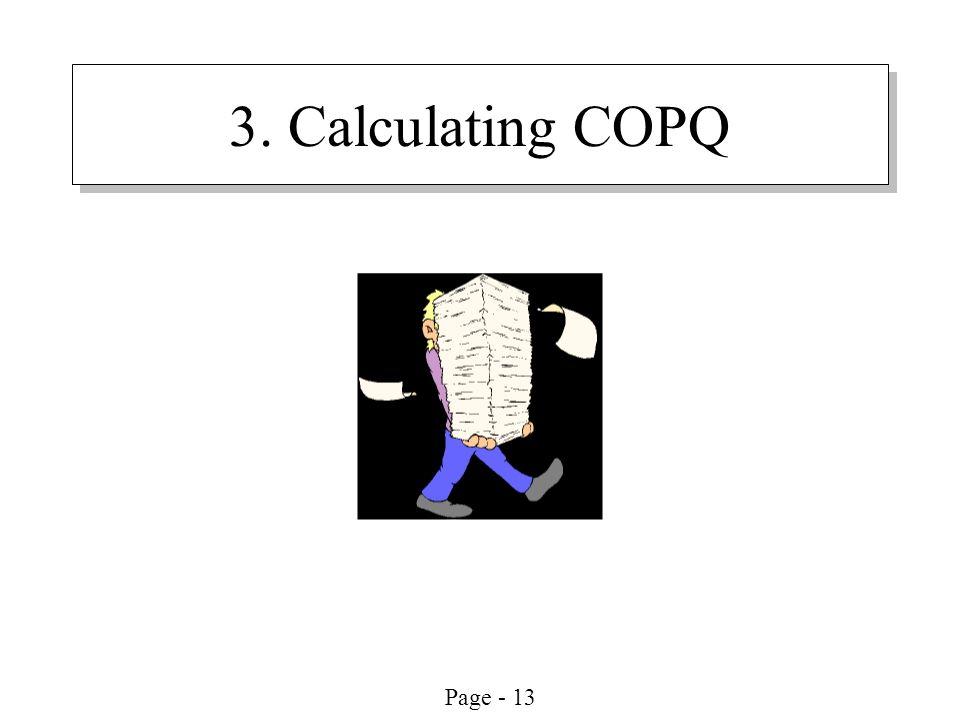 3. Calculating COPQ