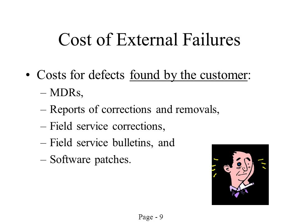 Cost of External Failures