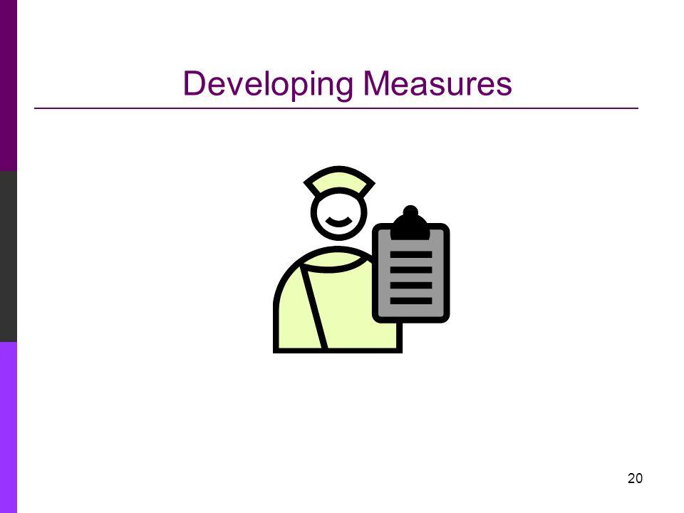 Developing Measures