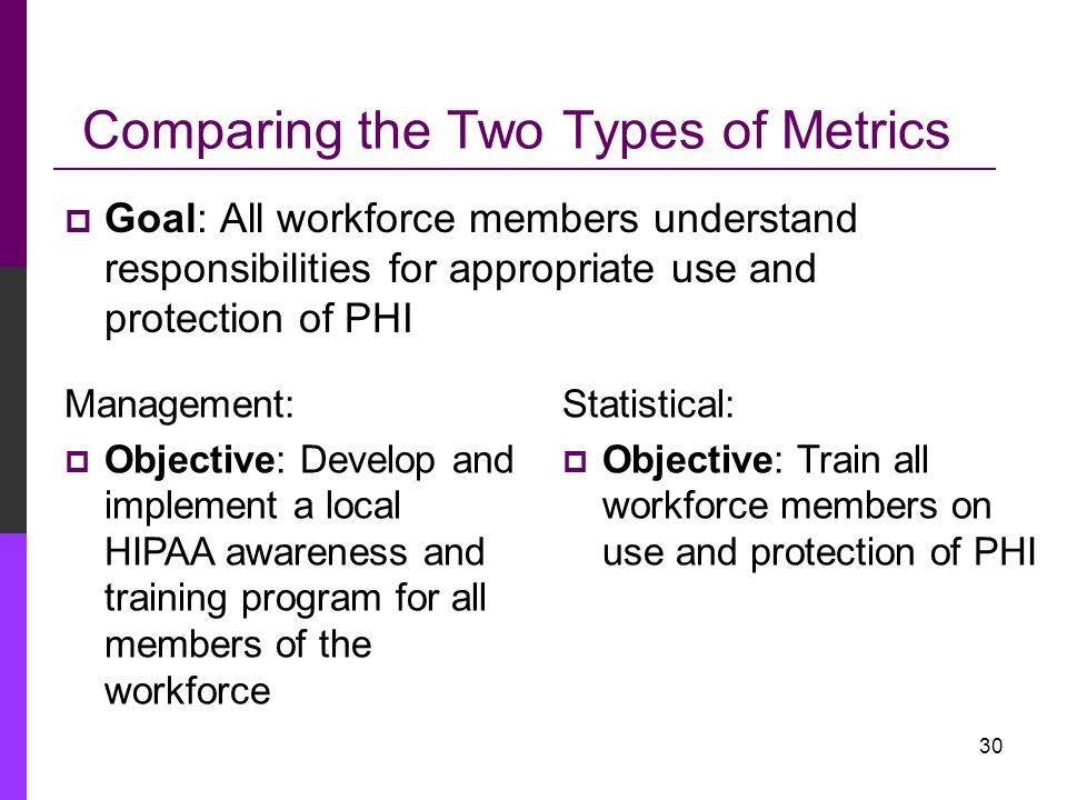 Comparing the Two Types of Metrics