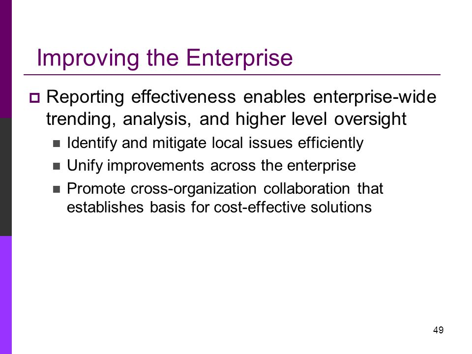 Improving the Enterprise