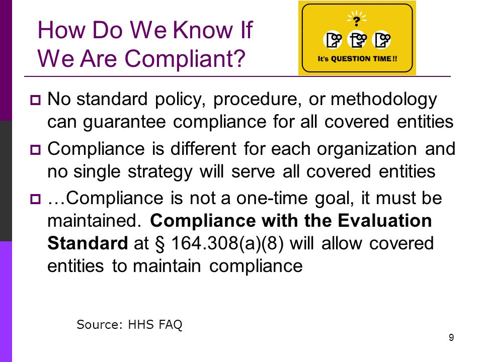 How Do We Know If We Are Compliant