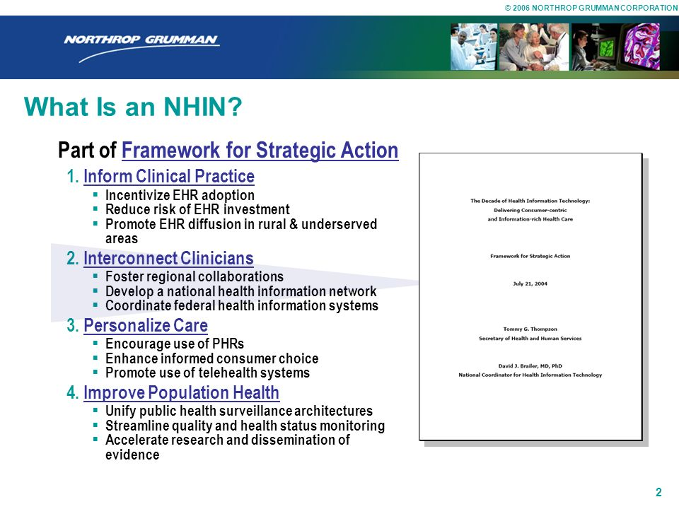 What Is an NHIN Part of Framework for Strategic Action