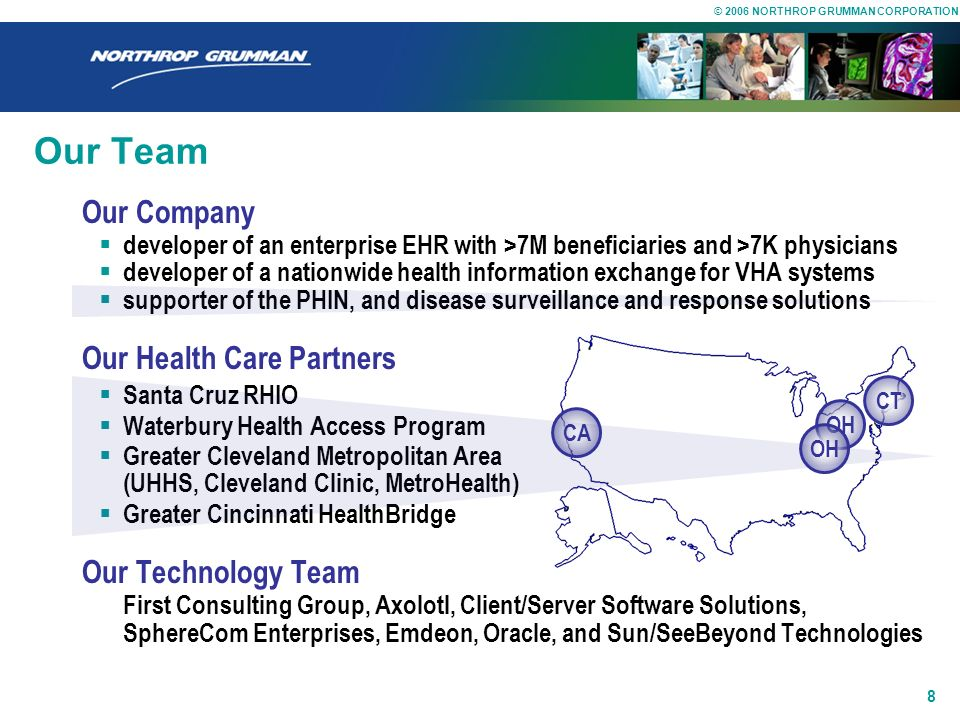 Our Team Our Company Our Health Care Partners Our Technology Team
