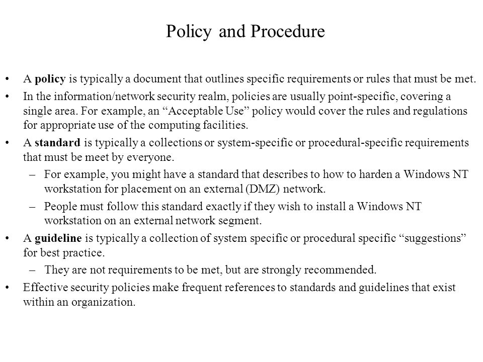 policies and procedures to meet ofsted requirements