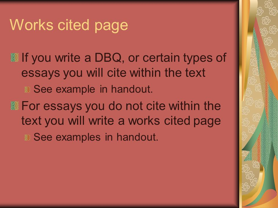 How to Make Works Cited Page