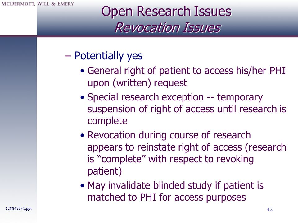 Open Research Issues Revocation Issues