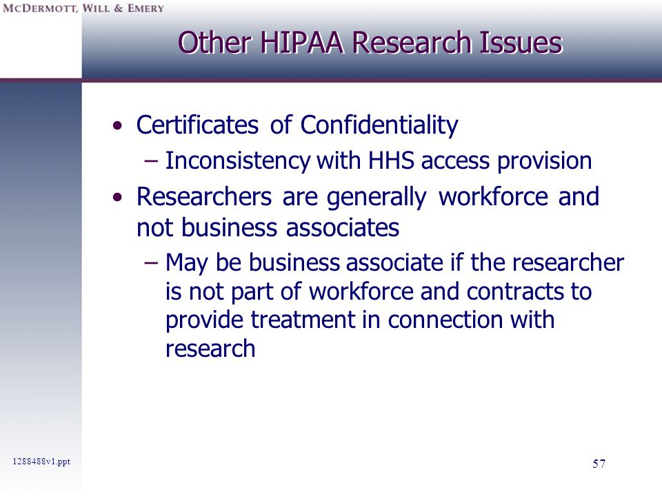 Other HIPAA Research Issues