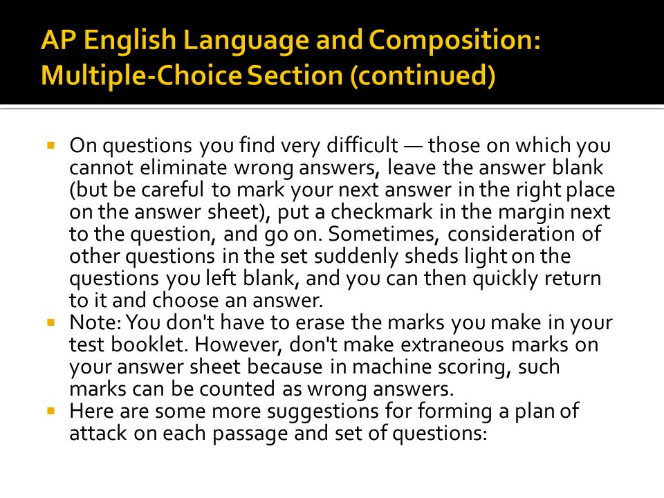 ap passage questions Choice questions once a day a cheap, gaudy packet arrived  below are the 10 multiple choice questions for this passage  mc cheap, gaudy packet sa ap.