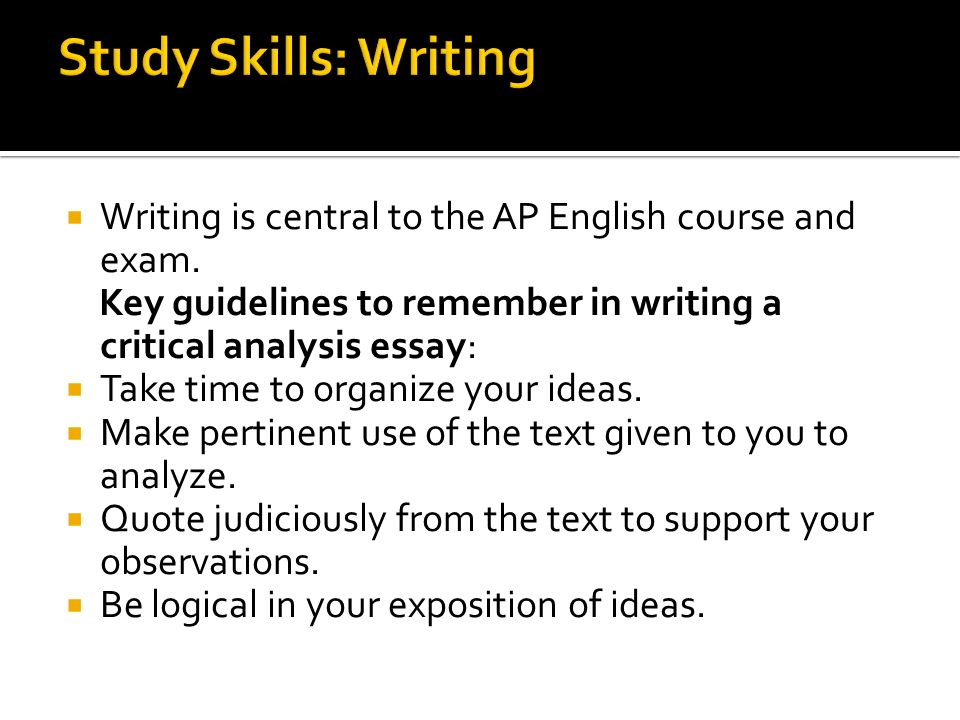 ap english language composition exam review ppt  12 study skills