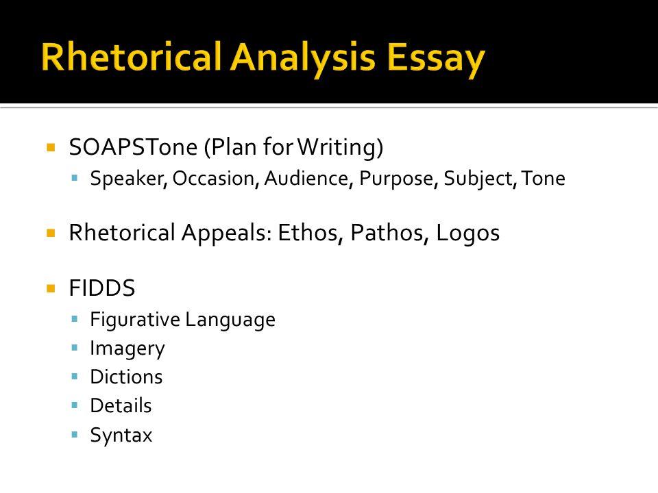 rhetorical analysis essay audience Free rhetorical analysis papers, essays, and research papers.