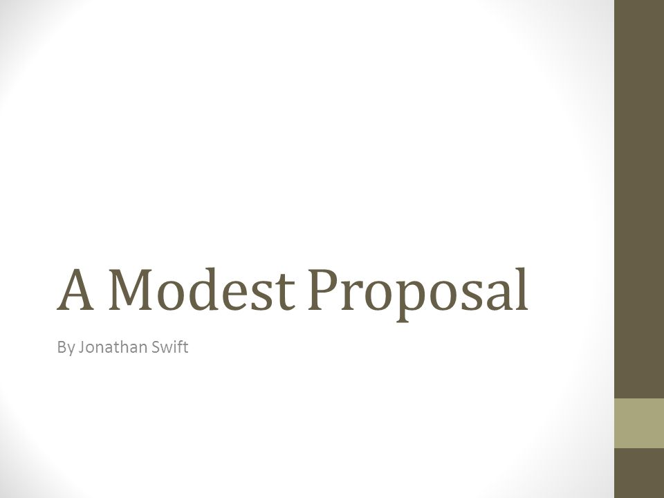 Essays on a modest proposal by jonathan swift