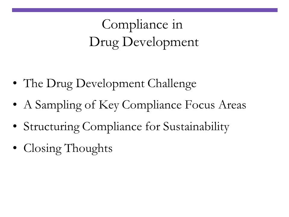 Compliance in Drug Development