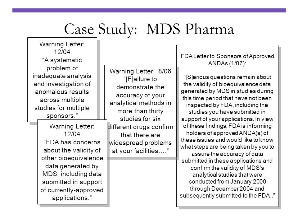 FDA Letter to Sponsors of Approved ANDAs (1/07):