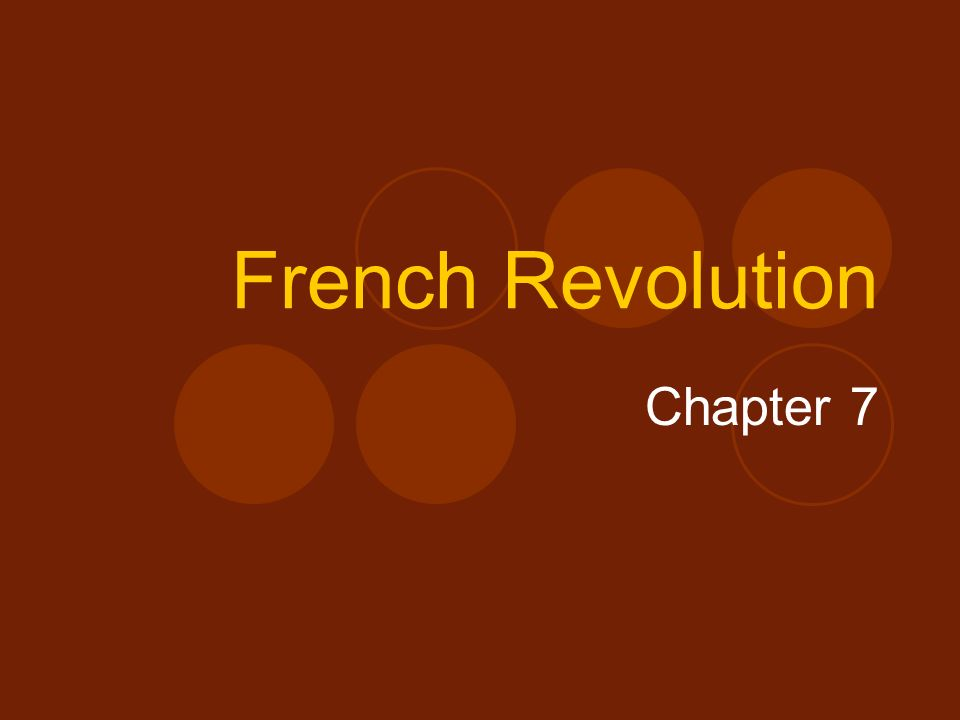 French Revolution Chapter 7